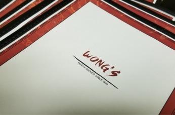 Wong's Menu
